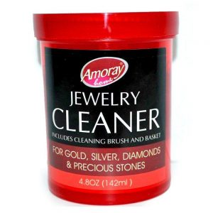 Amoray Solution Safely Clean All Jewelry Gold Silver & Diamonds Liquid Cleaner