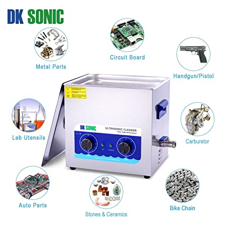 Commercial Ultrasonic Jewelry Cleaner with Heater and Basket for Metal Parts