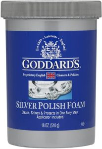 Goddard's Silver Polish & Tarnish Remover With Sponge Applicator Cleaner