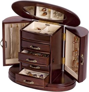 Mele & Co. Heloise Wooden Jewelry Box