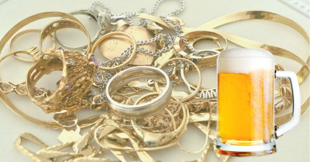 beer for jewelry clean